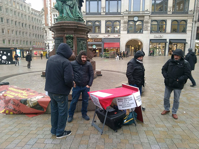 Hamburg: Solidarity for Musa Aşoğlu