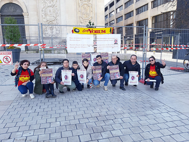 14th day of hunger strike support in Nancy