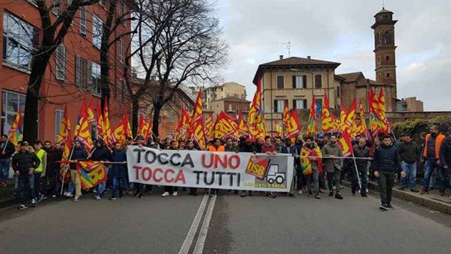 GENERAL STRIKE OF WORKERS IN ITALY
